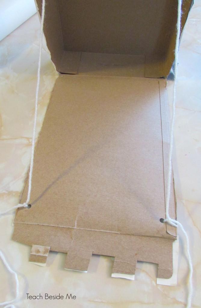 cereal box draw bridge instructions