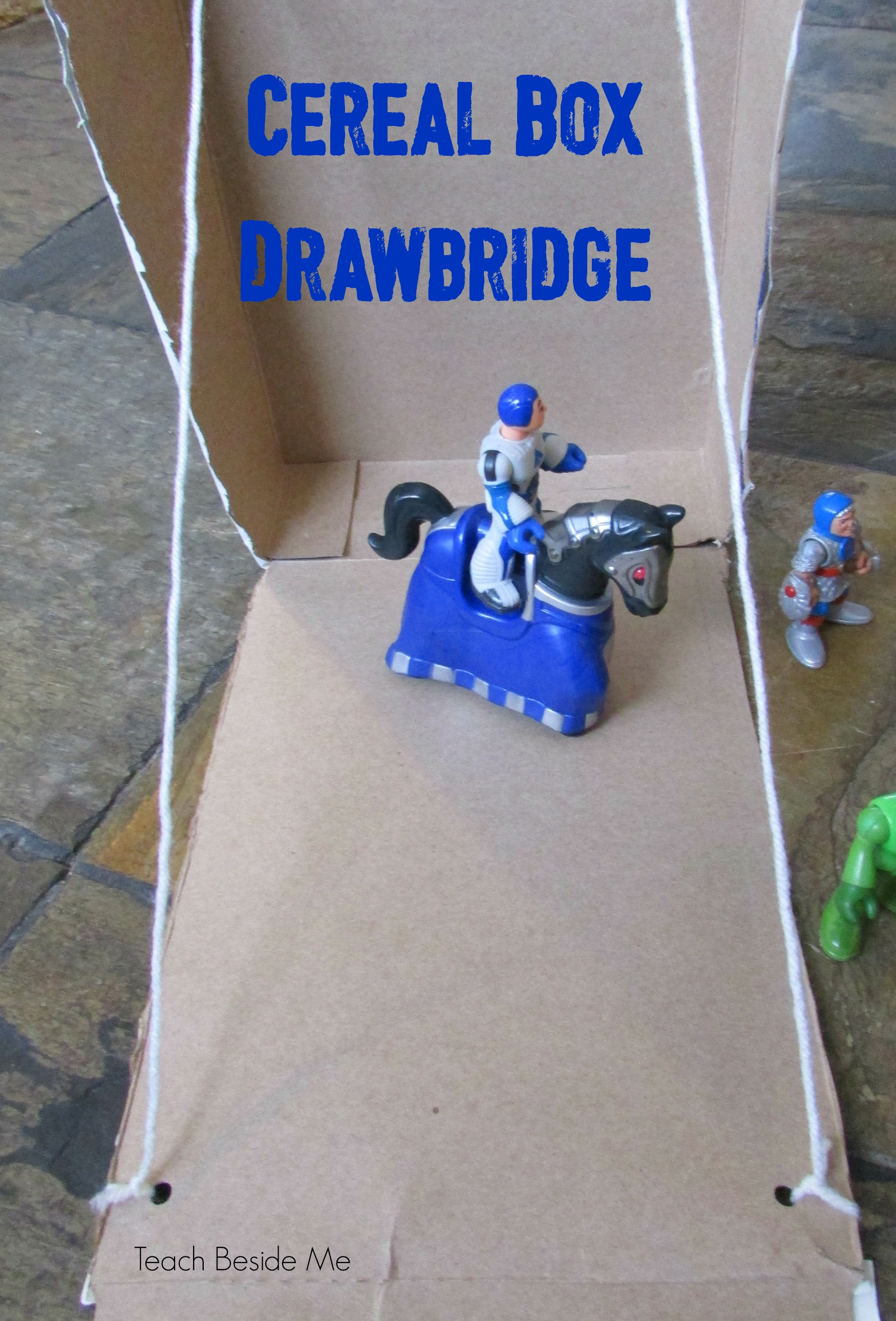 Cereal Box Drawbridge STEM