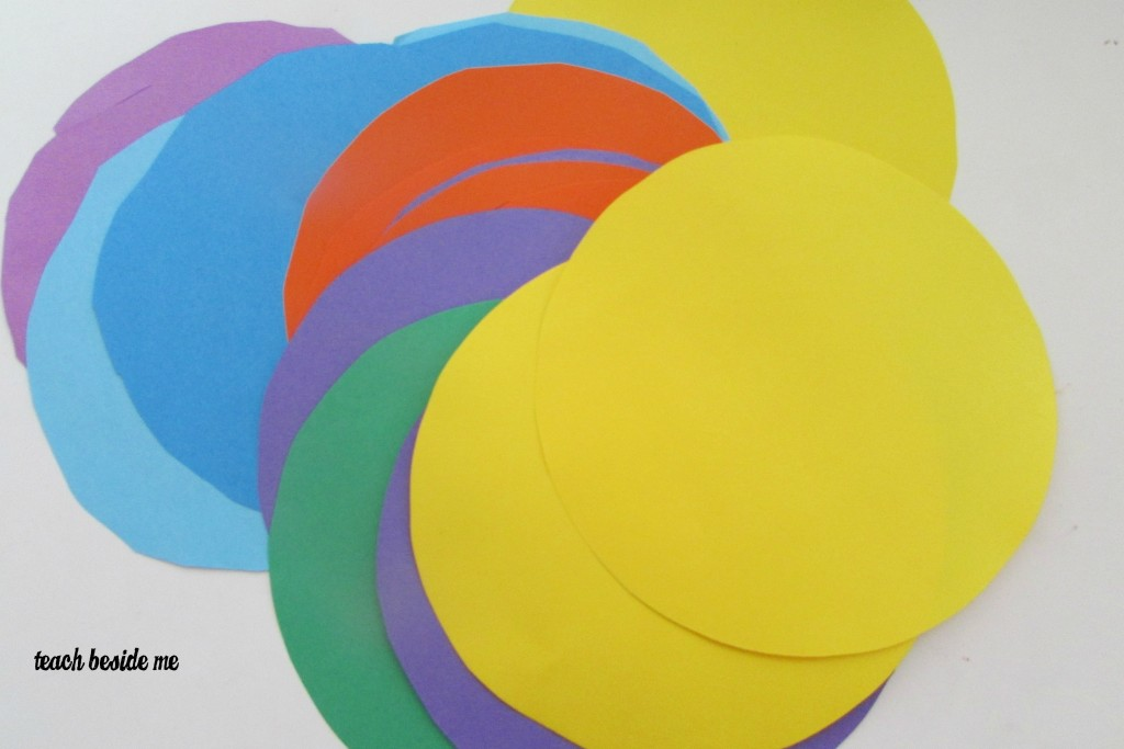 colored paper circles