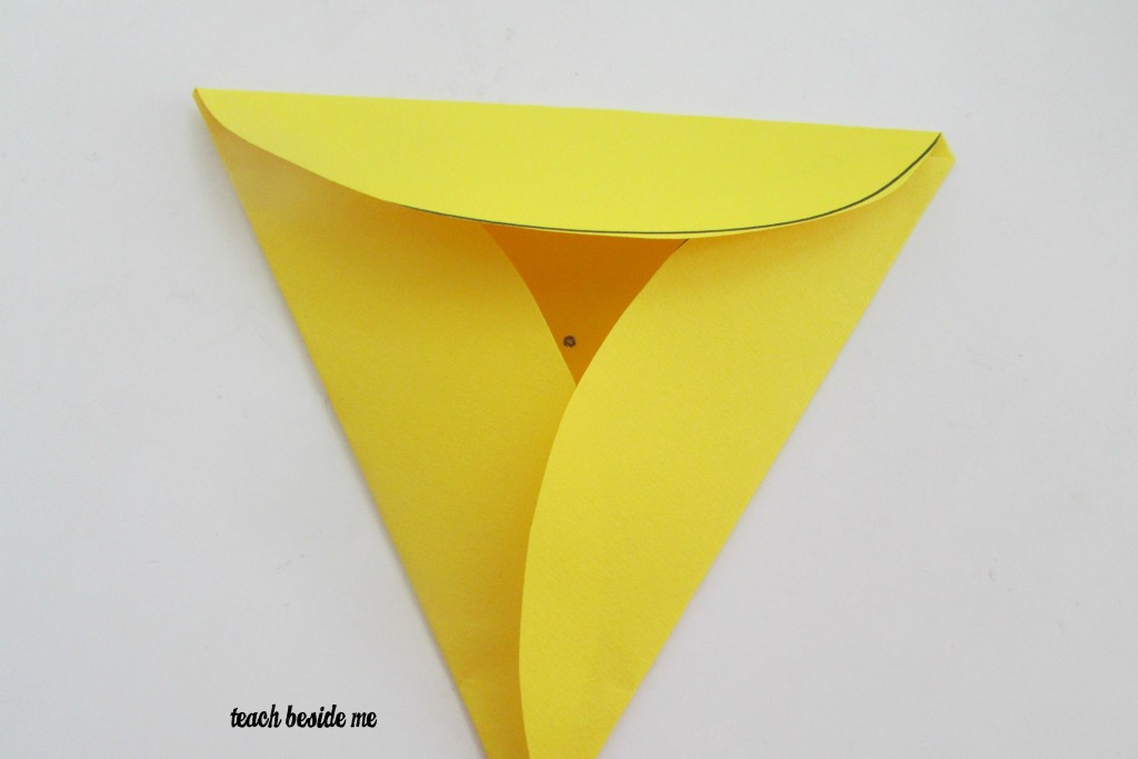 fold circle into triangle