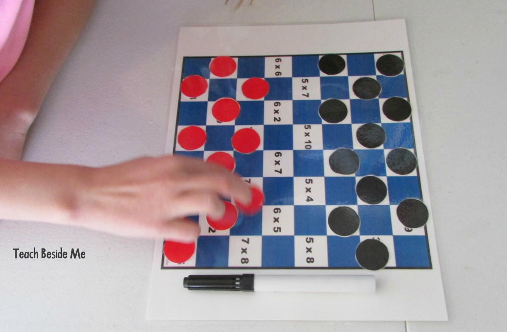 math checkers game