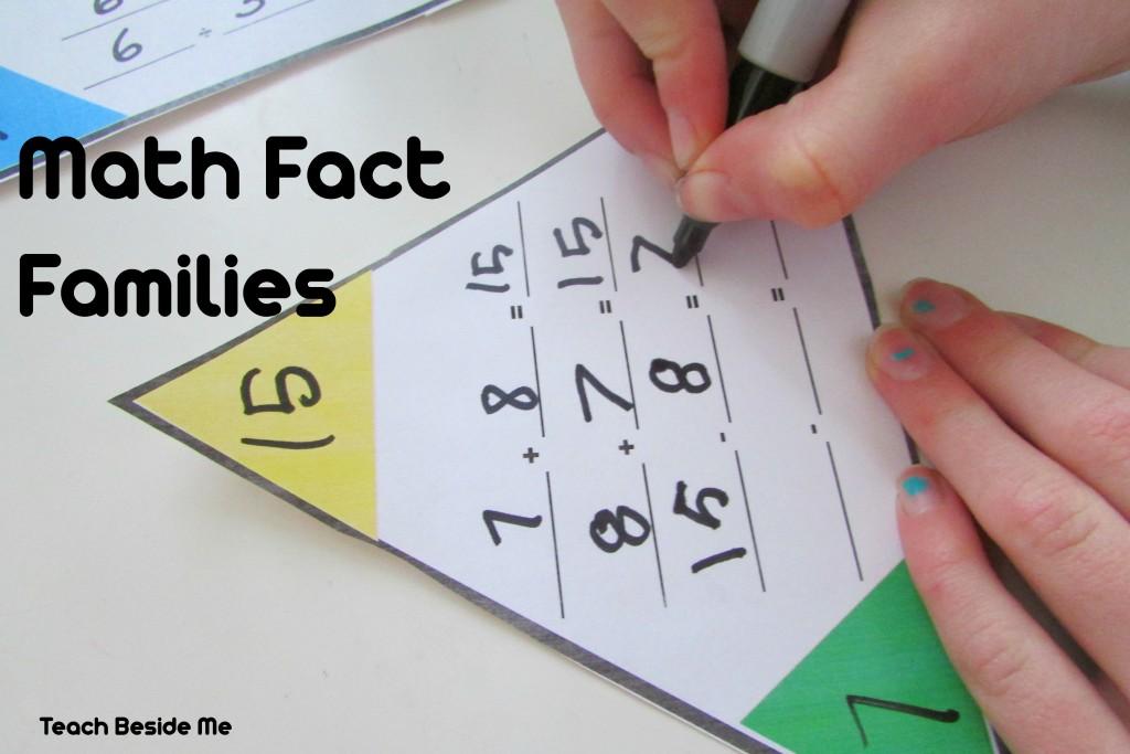 Printable Math Fact Families Cards