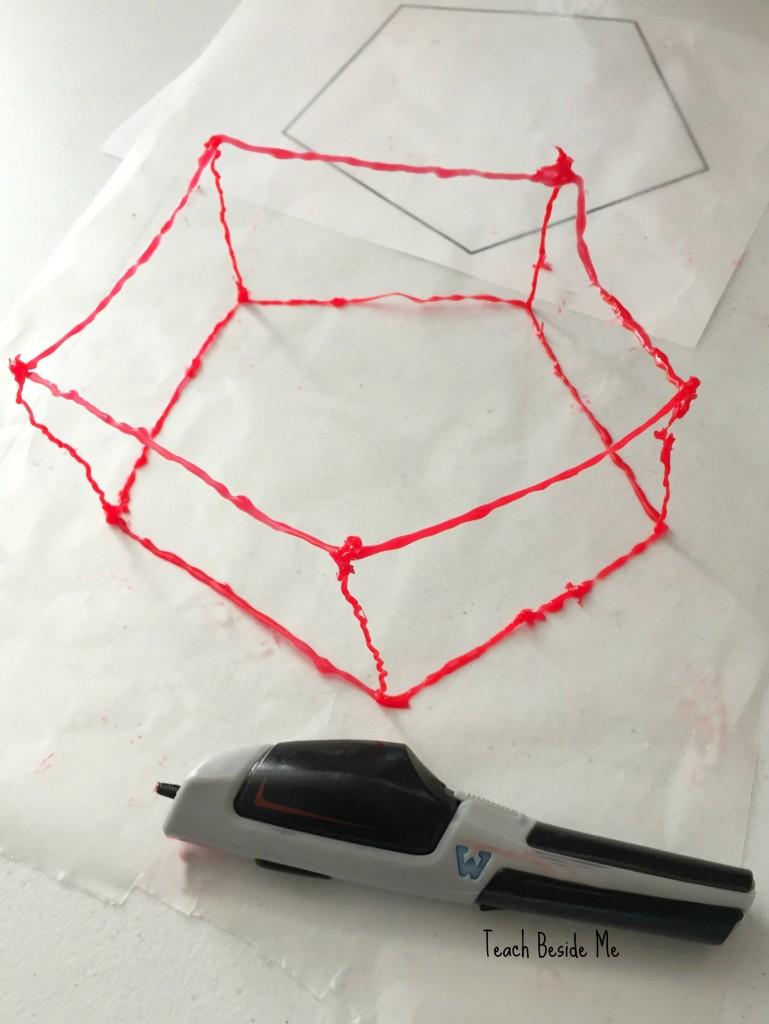 3-d pen geometric shapes