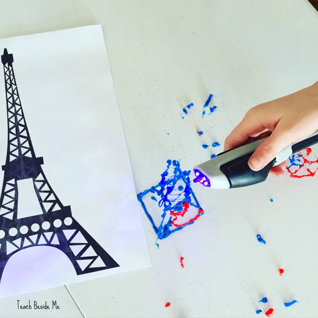Eiffel Tower with a 3-D pen