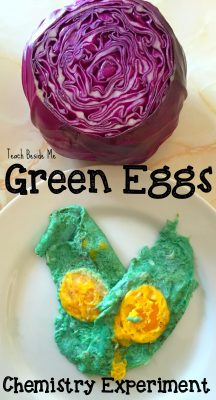 Green Eggs Chemistry Experiment