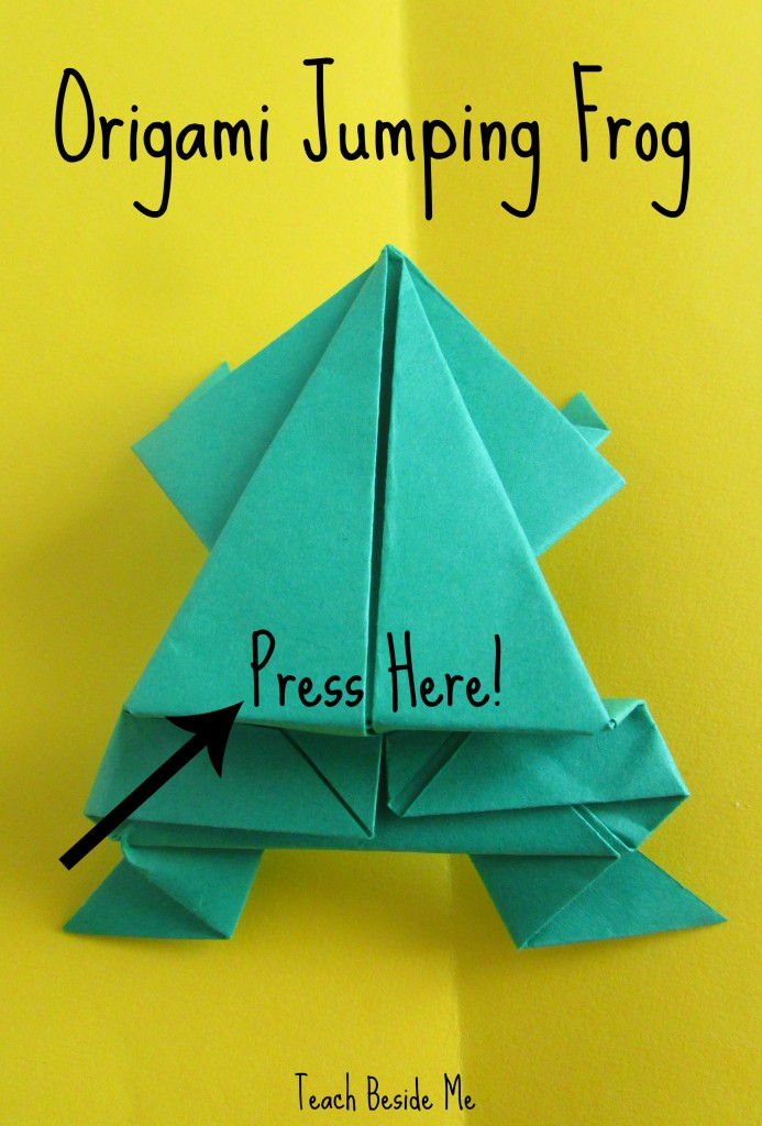 How to Make Origami Jumping Frogs and Leap Frog Math Game