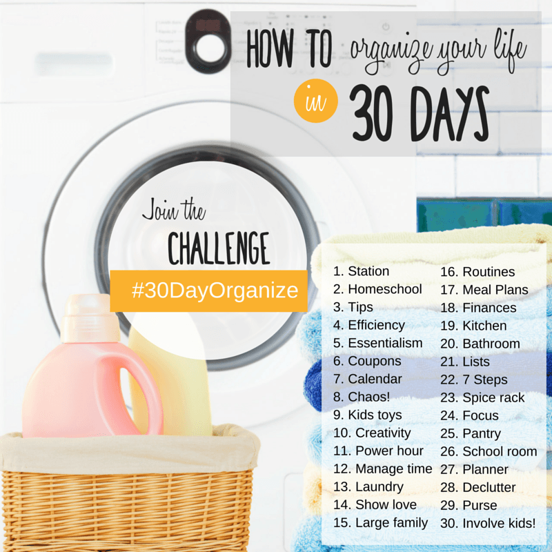 How To Organize Your Life In 30 Days Instagram