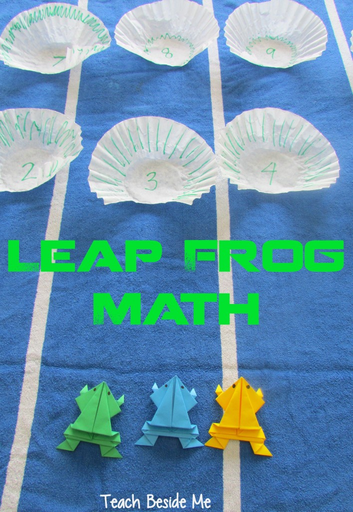 leap frog math- origami frogs