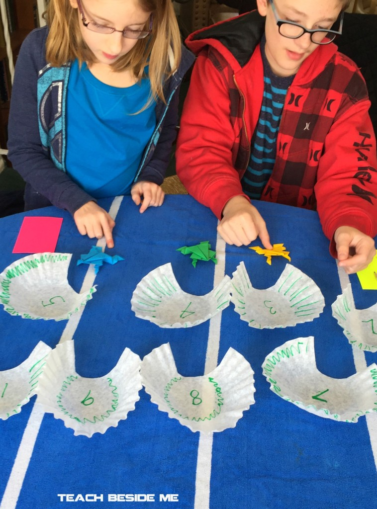 Math with origami frogs