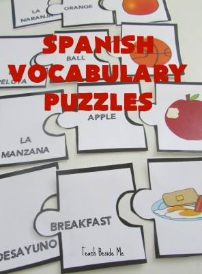 Spanish Vocabulary Puzzles