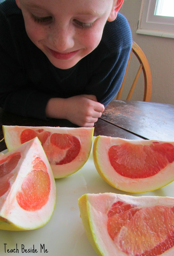 Trying a pomelo