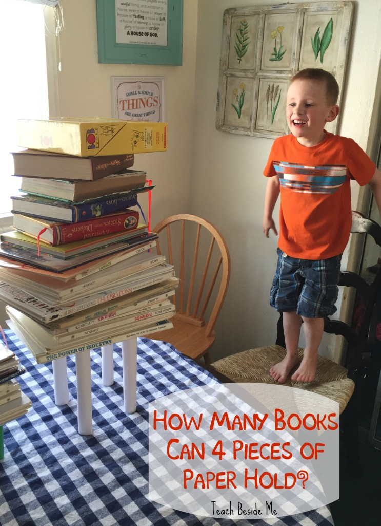 how many books can 4 pieces of paper hold