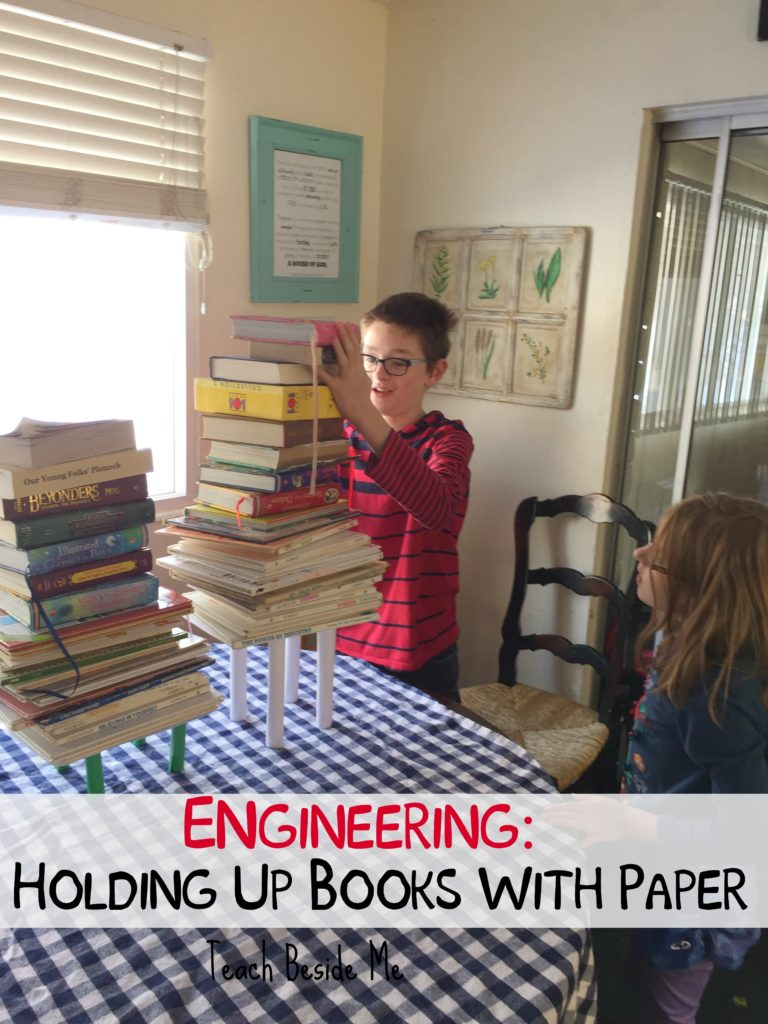 paper experiments- how many books will it hold
