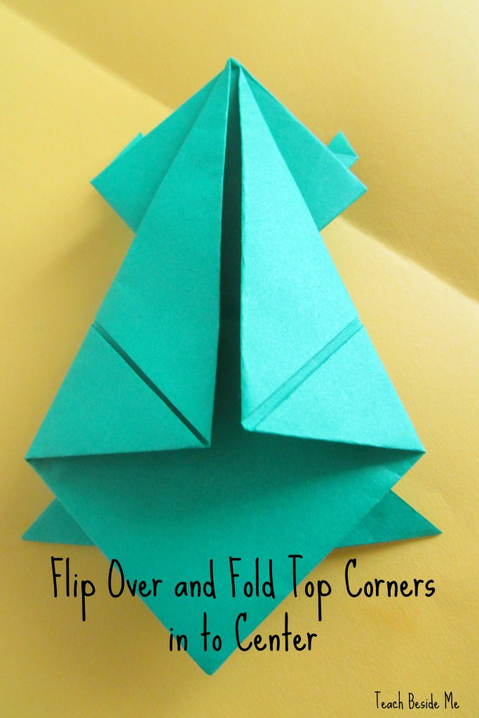 step 11- origami jumping frog