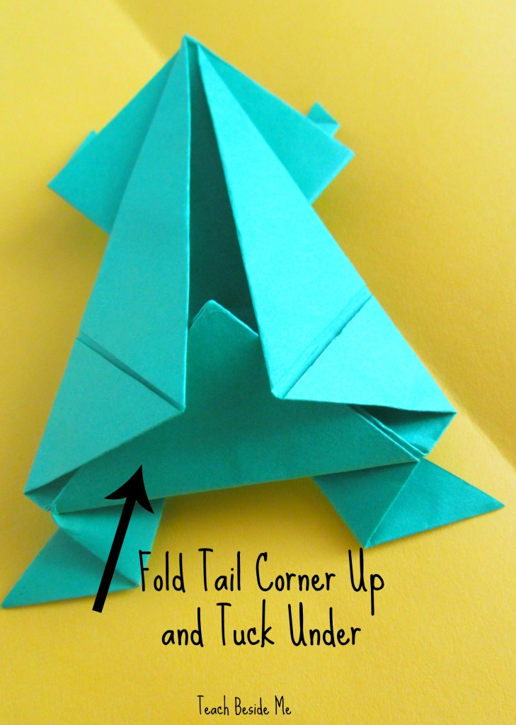 step 12- origami jumping frog