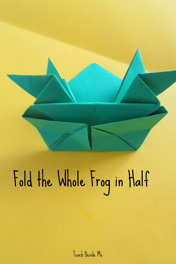 step 13- origami jumping frog