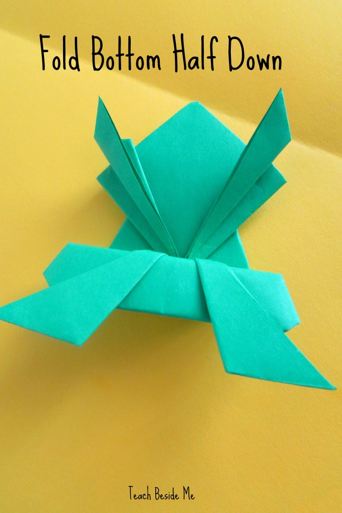 step 14- origami jumping frog