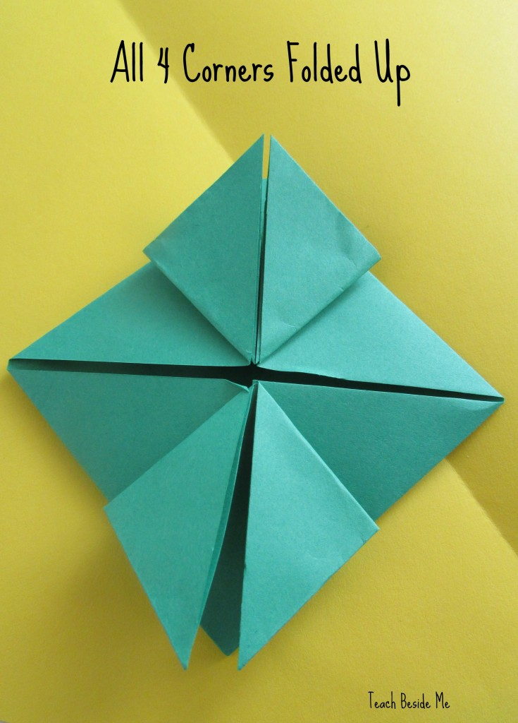 step 8- origami jumping frog