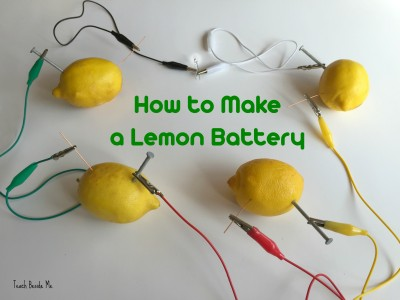 lemon battery science project for kids