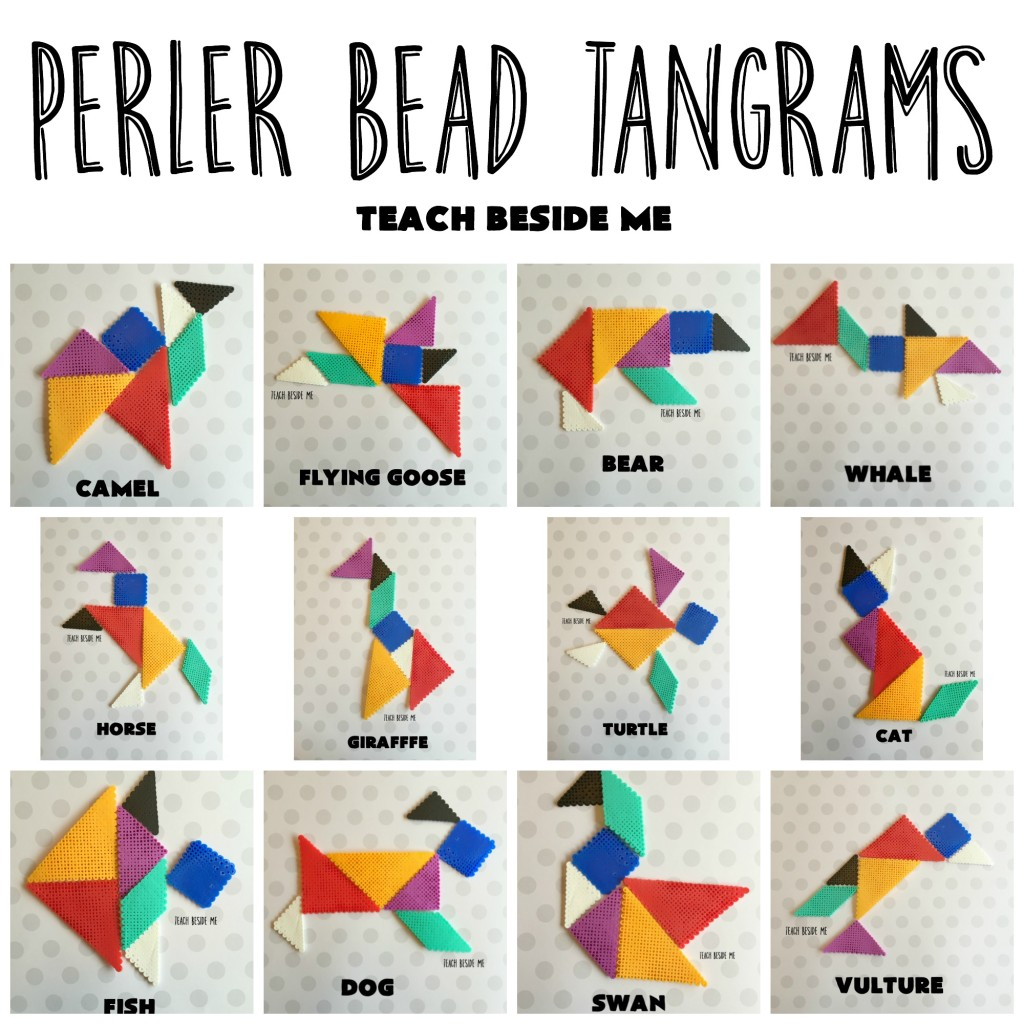 Perler Bead Tangram Animals
