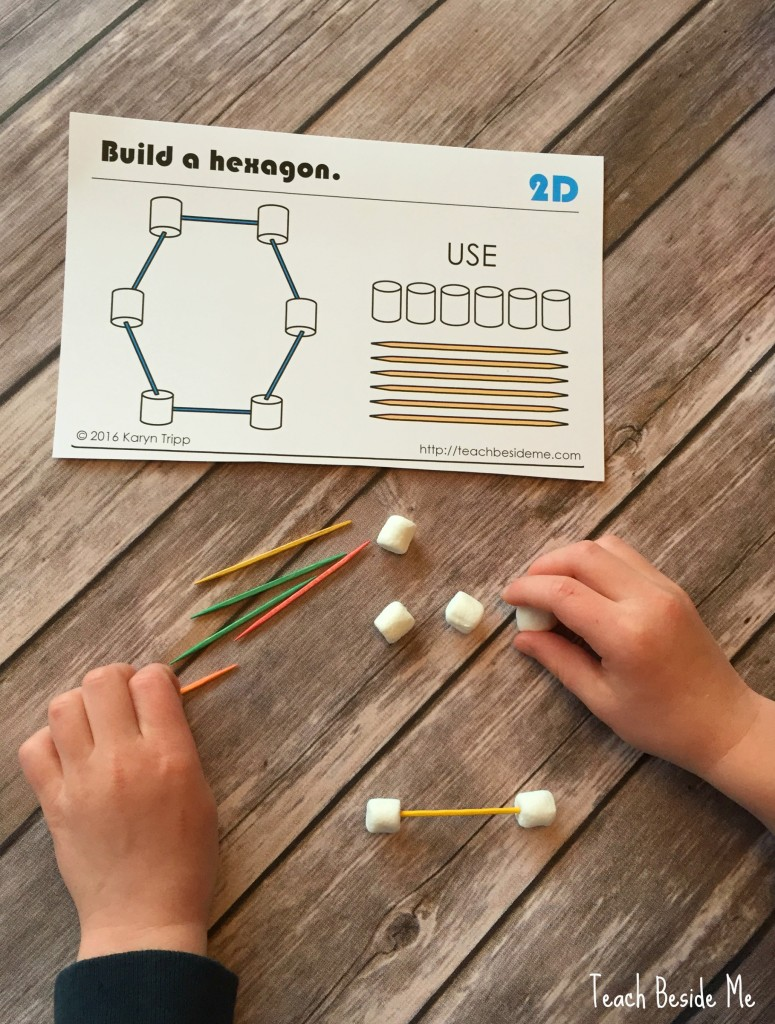 building cards for marshmallows and toothpicks