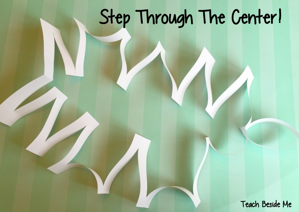 paper trick- step through the center