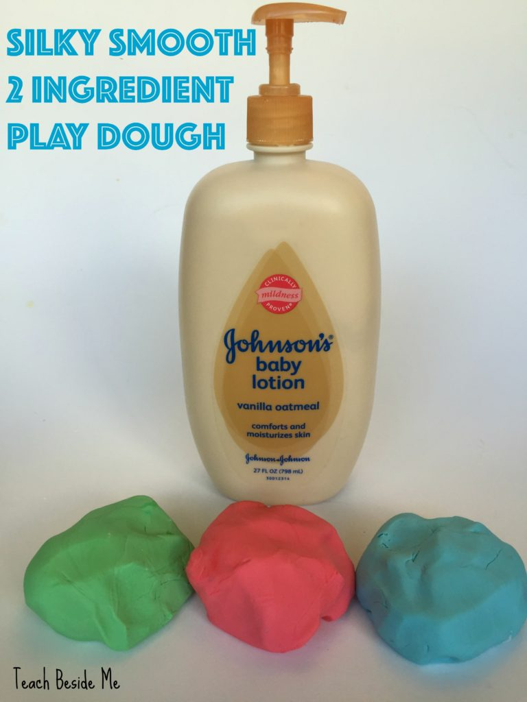 2 ingredient play dough- no cooking!