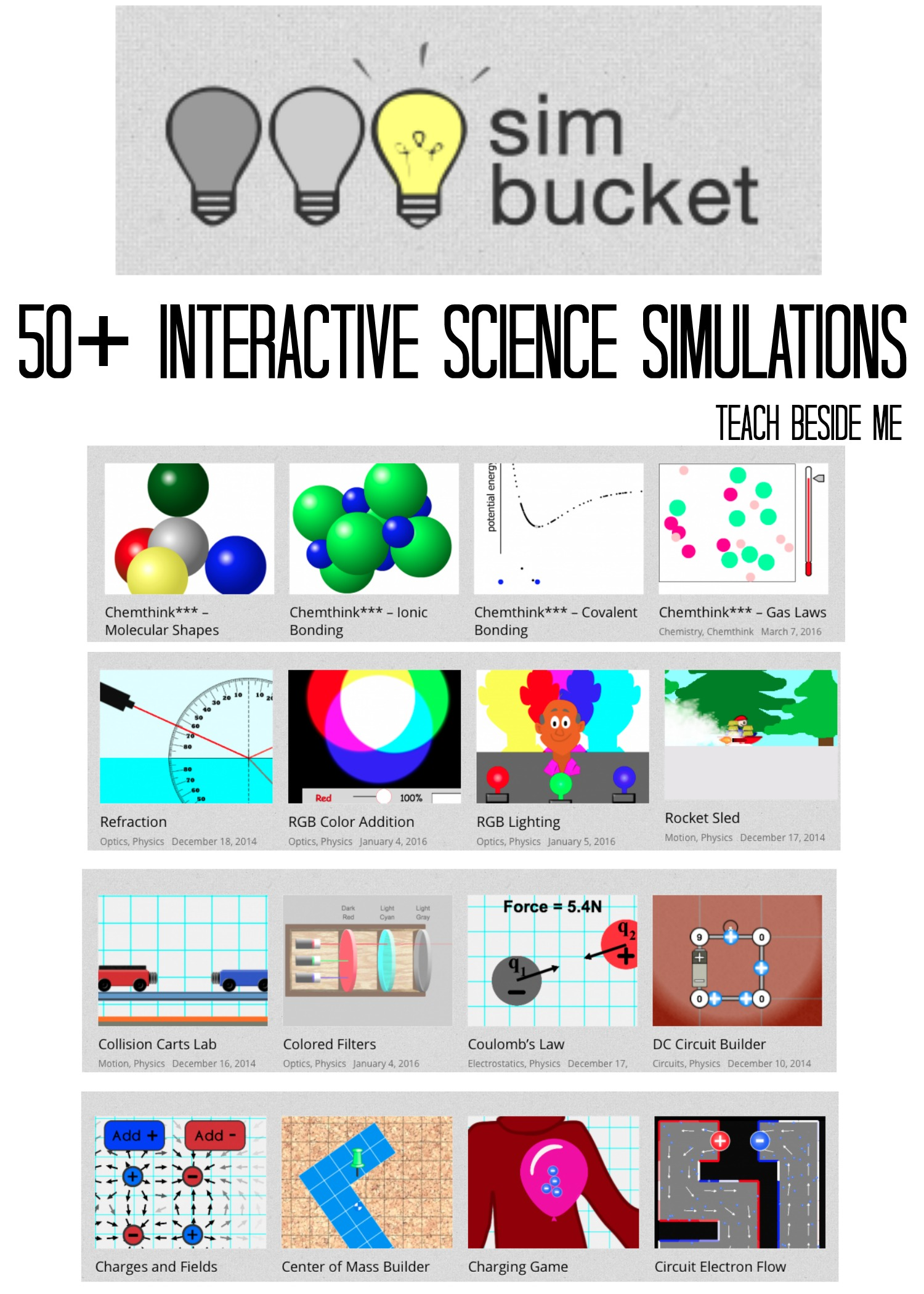 SimBucket- Science Simulations