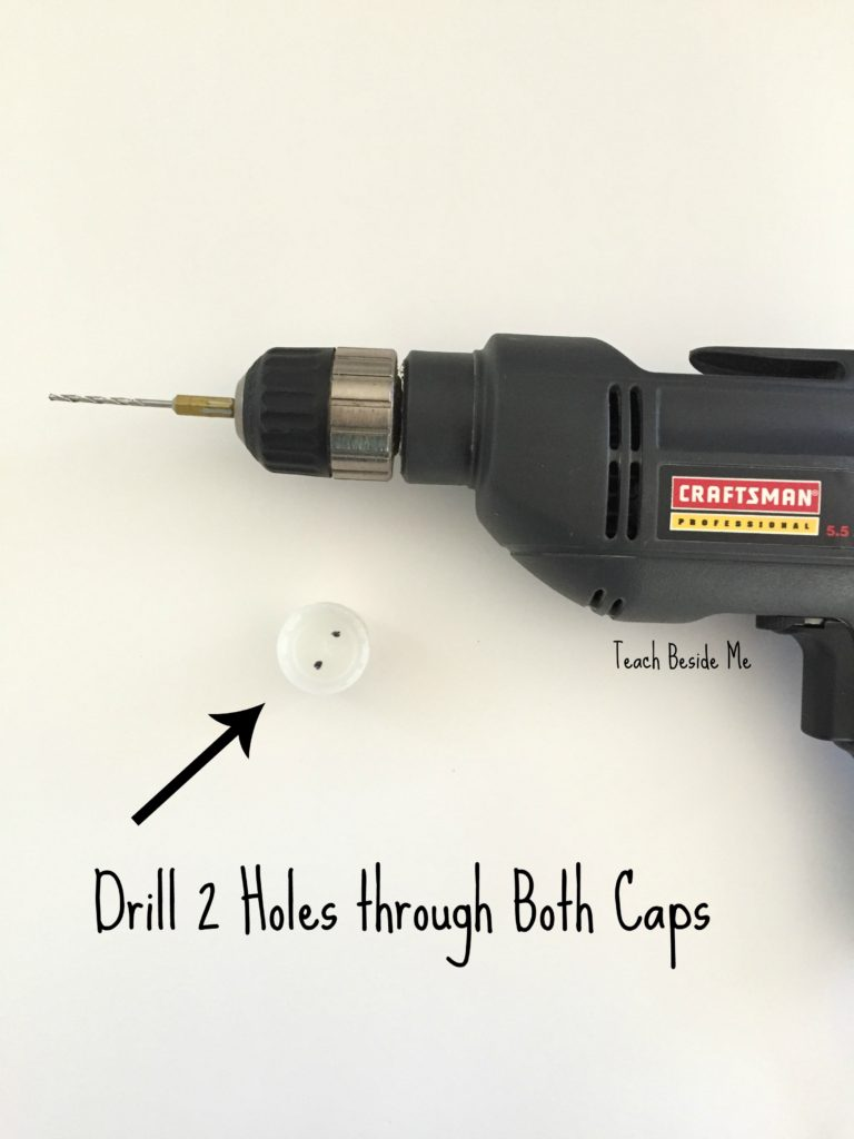 Drill through caps