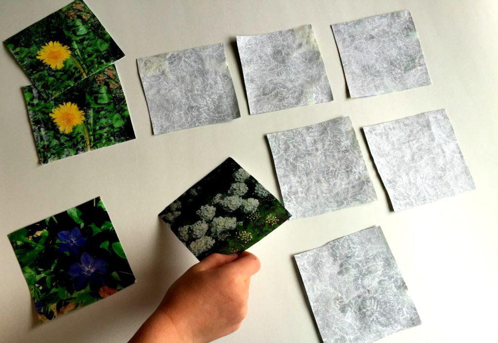 Nature Printed fabric matching Game