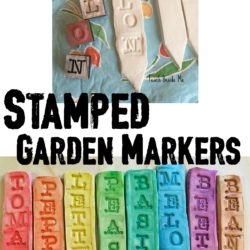 Clay Stamped Garden Markers
