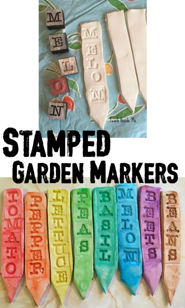 Stamped Garden Markers from Teach Beside Me