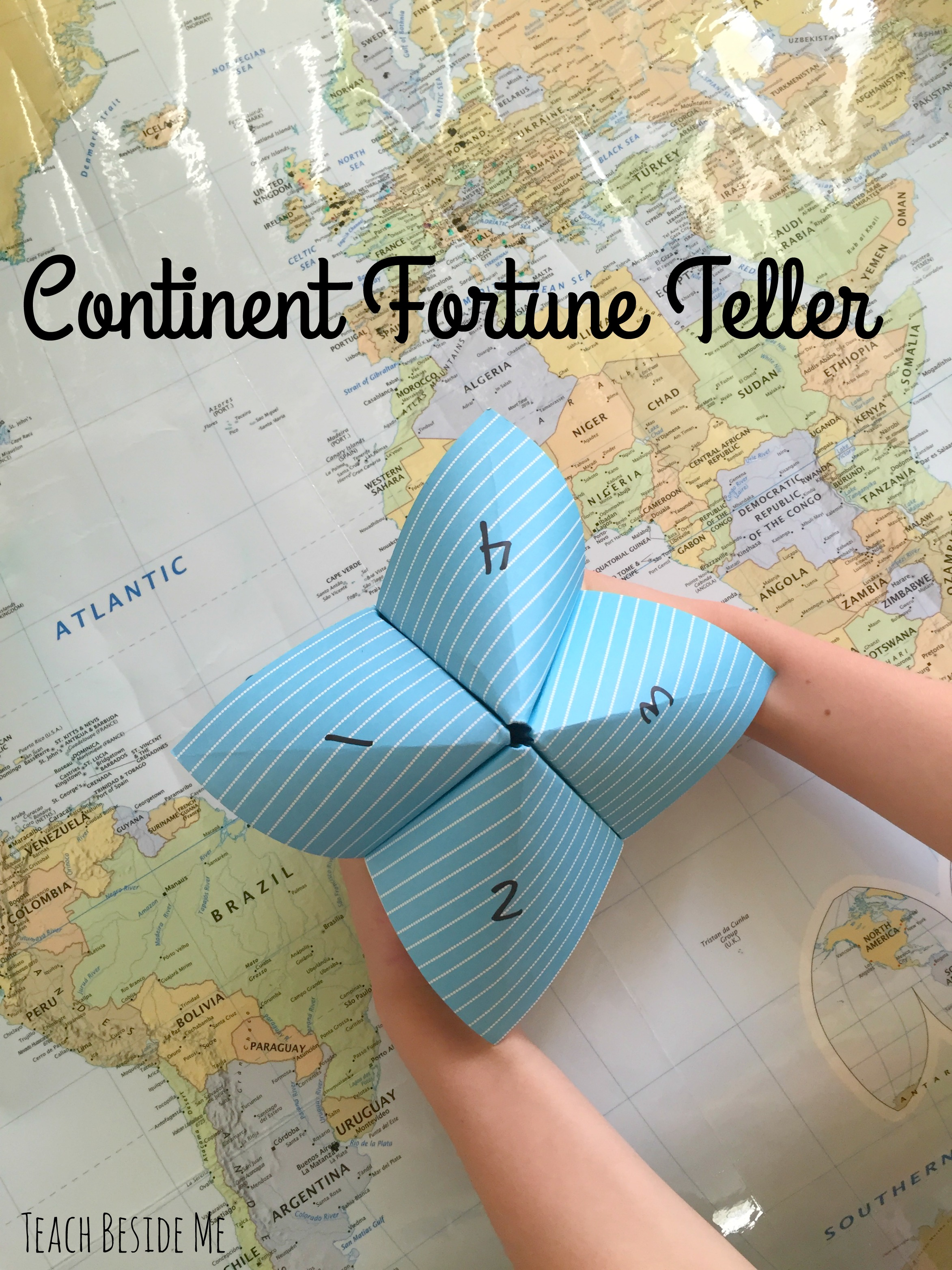 geography game- continent fortune teller