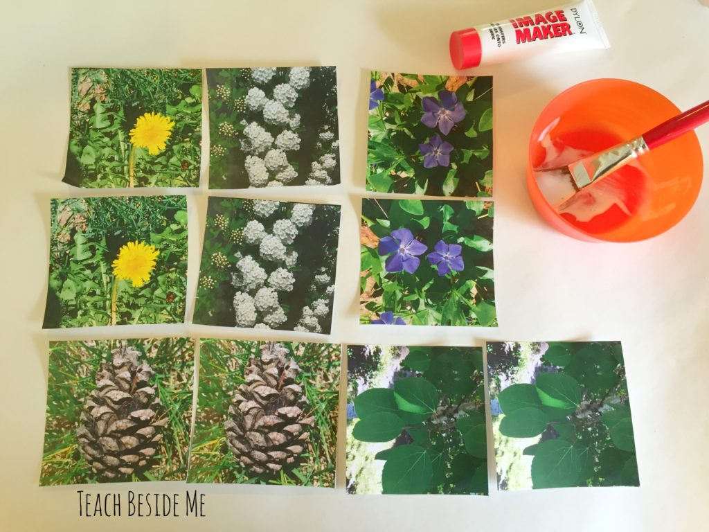 how to make a fabric printed matching game
