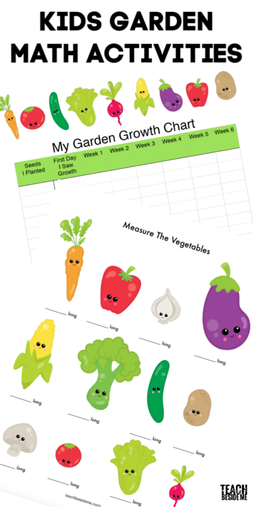 Kids gardening math activities