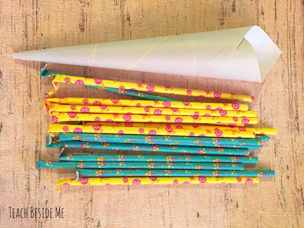 paper straws for homemade pixie sticks