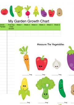 Kids Gardening Math: Growth & Measurement