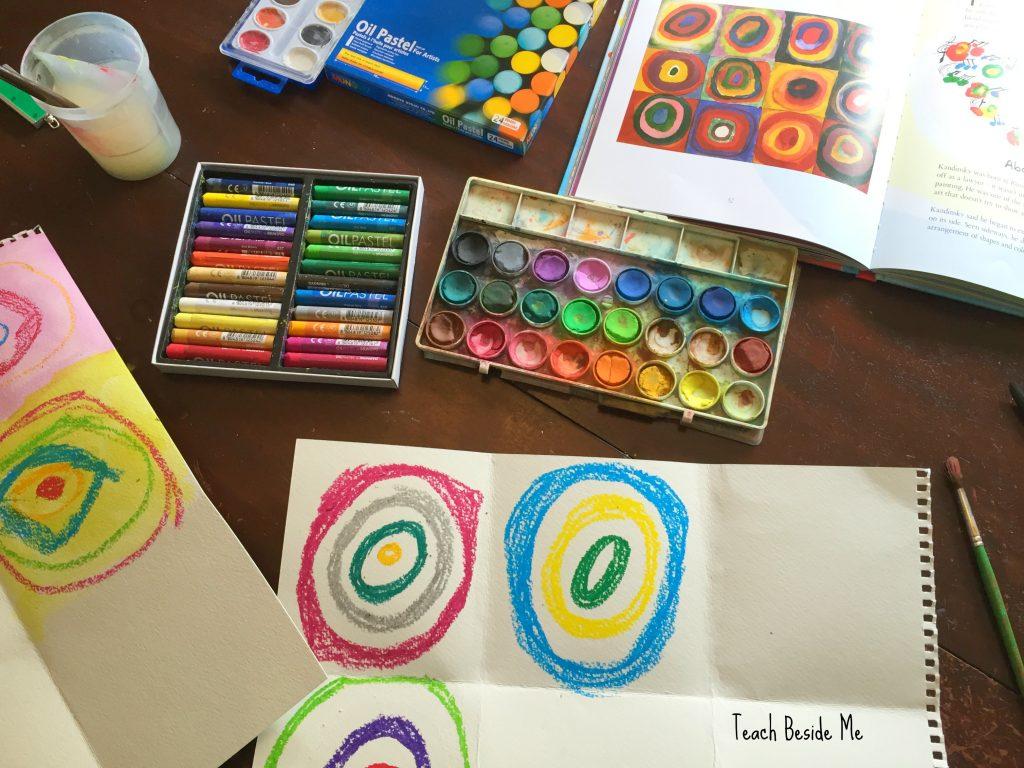 Kandinsky mixed medium concentric circles