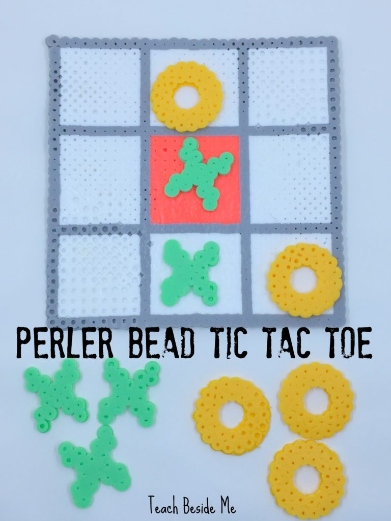 Perler Bead Tic Tac Toe Game