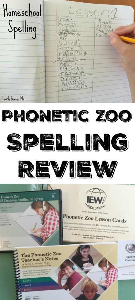 Phonetic Zoo Homeschool Spelling Review