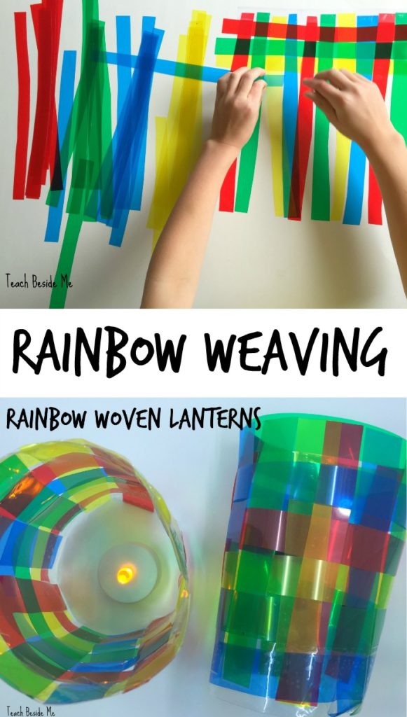 Rainbow weaving project