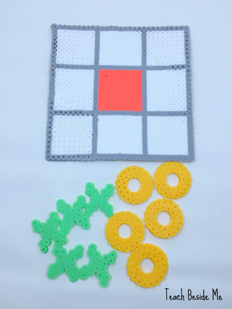 Tic Tac Toe Game Board from Perler Beads