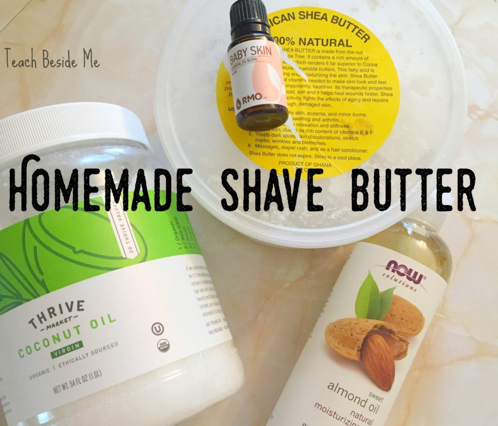 how to make homemade shaving cream or shave butter
