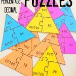 Fraction – Percentage – Decimal Math Puzzles