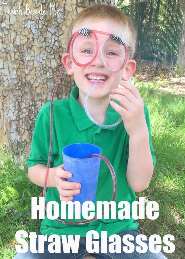 Homemade Straw Glasses for Kids from Teach Beside Me