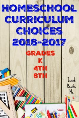 Homeschool Curriculum Choices 2016-2017