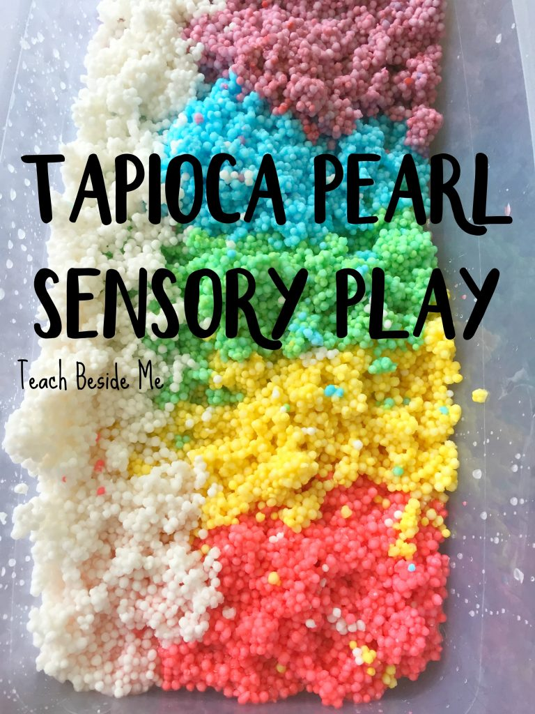 Tapioca Pearl Sensory bin for toddlers