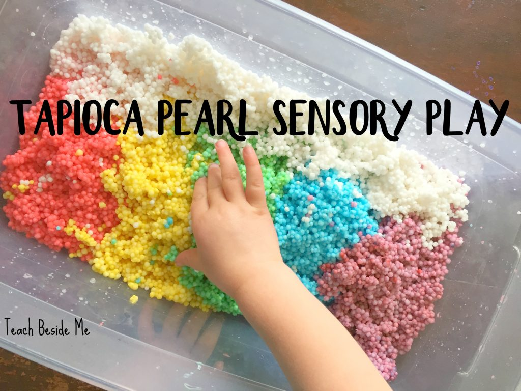 Toddler Sensory Play with Tapioca Pearls