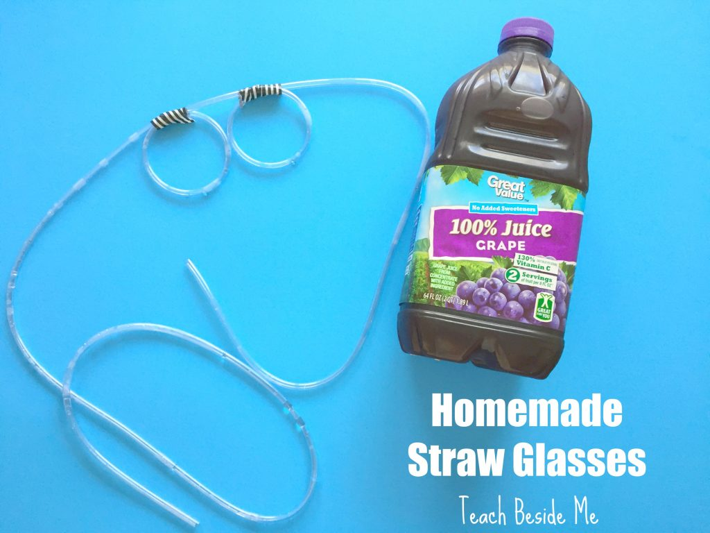 how to make homemade straw glasses