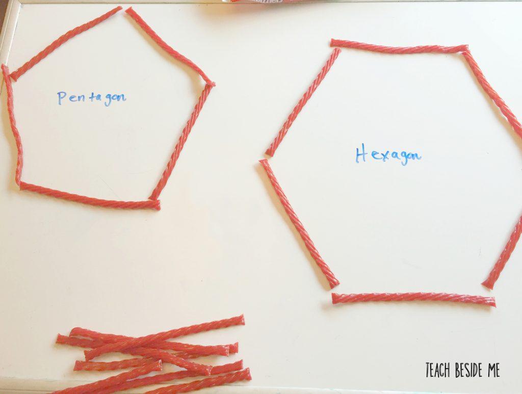 licorice math shapes
